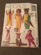 McCall's 5620 Halloween Babes Costumes, clown lion dinosaur santa bunny SIZE 2