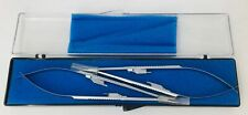 Hnm Medical 22 150818 Castroviejo Needle Holder Straight Med Jaw Lock Set Of 2