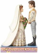 Jim Shore Disney Rapunzel Flynn Rider Wedding Bride Groom 4056751 Retired New