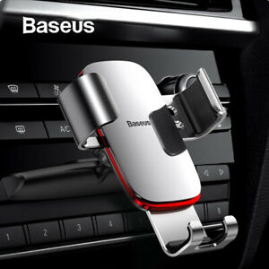 Baseus Car Holder CD Slot Air Vent Gravity Mount Phone Stand for Samsung