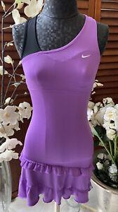 Nike Dri-Fit Purple Tennis Dress Racerback Built In Bra Womens SZ XS Free Gifts!