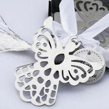 Silver Guardian ANGEL Bookmark Tassels Stationary Christening Wedding Favor Gift