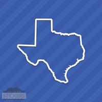 Texas TX State Outline Vinyl Decal Sticker