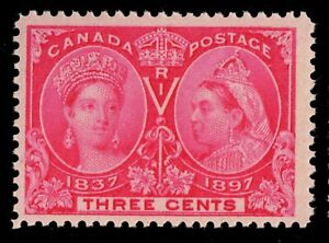 #53 Jubilee 3c Canada mint never hinged