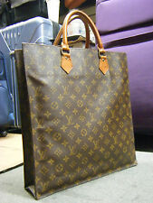 Auth-Louis Vuitton Sac Plat Monogram Shopping Hand bag Tote Business Briefcase
