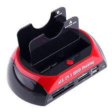 BASE DOCKING  PARA DISCOS DUROS HDD DUAL SATA 2.5 3.5 A USB 2 DISCOS DUROS