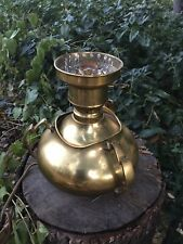 Great Classic Antique High Quality Brass Victorian Oil Lamp Electrified