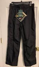 LL Bean Gore-tex Stowaway Rain Gear Black Pants Women's Size M Snow Rain Wind