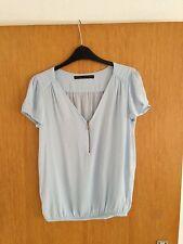 NEU Zara Top Shirt Gr.36 S blau himmelblau studio Pastell blogger weiss