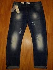 Neue Cross Damen Jeans IVY Boyfriend Gr W27/32 Used Blau Destroyed Effekte OVP