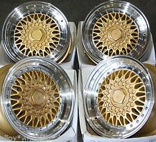 "16"" GOLD SS RS ALLOY WHEELS FIT FORD ESCORT FIESTA MONDEO FUSION B MAX COUGAR"