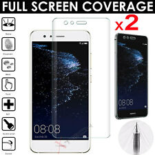2x FULL SCREEN Face Curved TPU Screen Protector Covers For Huawei P10 Lite