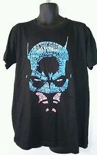 Batman Men's Mask Text Fill Graphic Tee Size XL Black