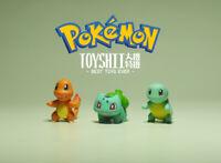 lot of 3 Pokémon Pokemon Pikachu Bulbasaur Charmander Squirtle figure 3cm
