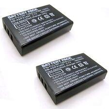 2x 3.7v 1800mAh Li-ion Battery for TOSHIBA PA3791KIT1 PX-1657 PX1657 Camera New