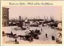 Italia, Trieste, Piazza Giuseppina  Vintage albumen print. Vintage Italy  Tira