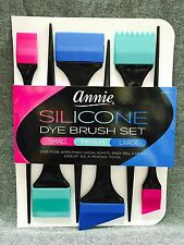 Annie 6PC SILICONE DYE BRUSH SET #2960 HIGHLIGHTS RELAXERS HAIR COLOR APPLICATOR