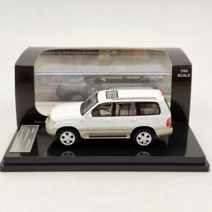 1/64 HIKASI Toyota Land Cruiser LC100 V8 VXR Limited Diecast Models White