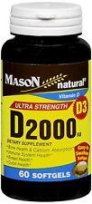 Mason Natural Vitamin D 2000 IU Softgels Ultra Strength