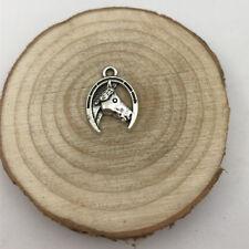 4Pc Horse Head Charm Tibetan Silver Tone Pendant  Charms Pendants 15x20mm