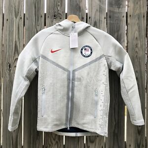 Nike United States Paralympic Team Zip Up Jacket Men's Medium USA Gray New