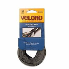 Velcro 90924 Reusable Cable Ties - Black, Gray - 50 Pack
