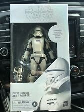 "HASBRO STAR WARS BLACK SERIES 6"" inch CARBONIZED FIRST ORDER JET TROOPER IN HAND"