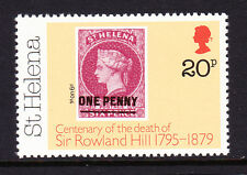 ST HELENA 1979 ROWLAND HILL 20p WITH WMK CROWN TO RIGHT OF CA SG 353w MNH.