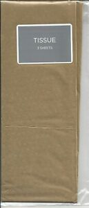 Gold Tissue Paper - 3 sheets - Hallmark Christmas Birthday Gift Wrap NEW