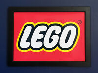 Lego Logo Framed A4 Size Poster Shop Sign Advert - very high quality