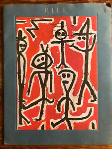 "Vintage Paul Klee Portfolio (1942) w/ 6 Colorplates 12"" X 9.5"" Background Text"