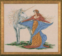 """Design Works Counted Cross Stitch Kit Unicorn 14"""" X 16"""" NEW 14 Count"""