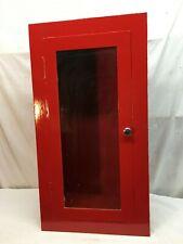 Vntg Salvaged Inset Wall Mount Fire Extinguisher Metal Cabinet Glass Door
