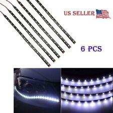 """6 PCS white 12V 12""""  Flexible LED Strip Light Waterproof IP68 For Car Truck Boat"""