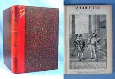 """Partition Reliée et Illustrée de """"RIGOLETTO""""/ Musique de G. VERDI / Choudens éd."""
