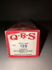 QRS 1216 Player Piano Word Roll 125 Love's Old Sweet Song Lee S. Roberts