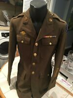 WW11 US ARMY JACKET WITH PATCH AND RIBBONS