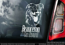 BEAUCERON Car Sticker, Shepherd Dog Window Bumper Decal Sign Gift Pet - V01