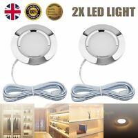 2x 12V LED Interior Light Ceiling Cabin Caravan Camper Motorhome Lamp Warm White