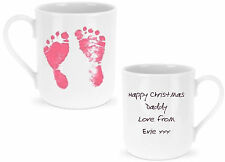 Baby / Childs Footprint Personalised Mug Ideal GIFT for Father's Day Birthday