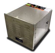 New 10 Tray Commercial Stainless Steel Fruit Jerky Sausage Food Dryer Dehydrator