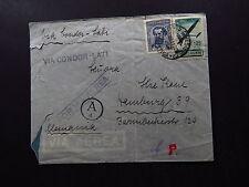 R-Cover Argentina Condor Lati Via Aerea Buenos Aires Postmark Ad 1922 Alemania