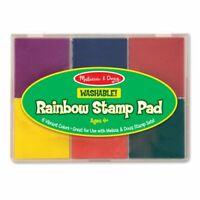 Melissa & Doug Rainbow Stamp Pad, Arts & Crafts, Multicolored Inkpad, Washabl...