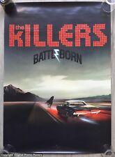 THE KILLERS -  PROMO POSTER - BATTLE  BORN - (cd LP red pink vinyl album ticket)
