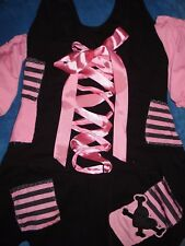 Halloween Leg Avenue Pirate Wench Costume Dress - Cute Pink & Black Size S/M