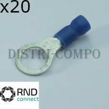 Cosse à oeillet 8.4mm à sertir bleue RND Connect (lot de 20)