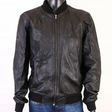 *R TopMan Mens Jacket Faux Leather Black size XL
