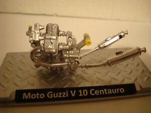 Moto Guzzi V 10 Centauro Miniaturmotor On Plate 1:18 Unique