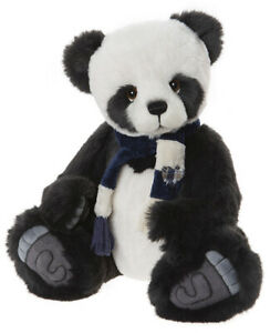Piran by Charlie Bears - jointed plush panda teddy bear - CB202002A