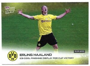 TOPPS NOW  2020/21 ERLING HAALAND ICE-COOL FINISHING NO 003